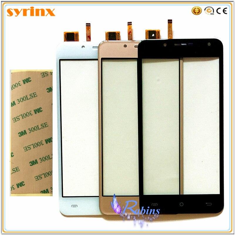 SYRINX 5.0 pollice Touchscreen Per Cubot Arcobaleno 2 Sensore di Tocco Digitale Dello Schermo Touch Panel Frontale In Vetro di Ricambio Lens 3 m nastro