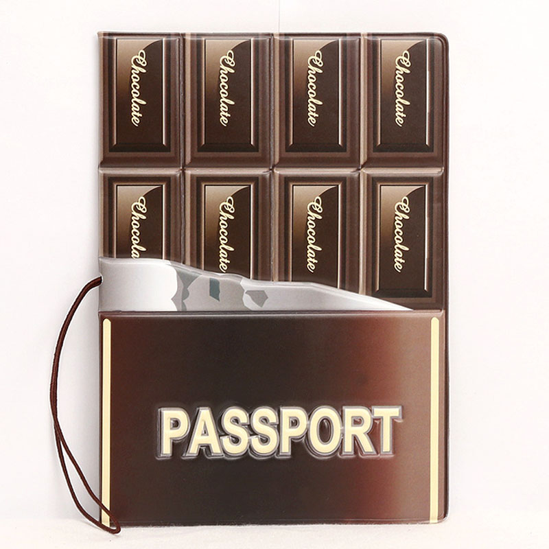 OKOKC Letter PVC Leather Passport Cover Travel Document Card Holder Passport Case Travel Accessories