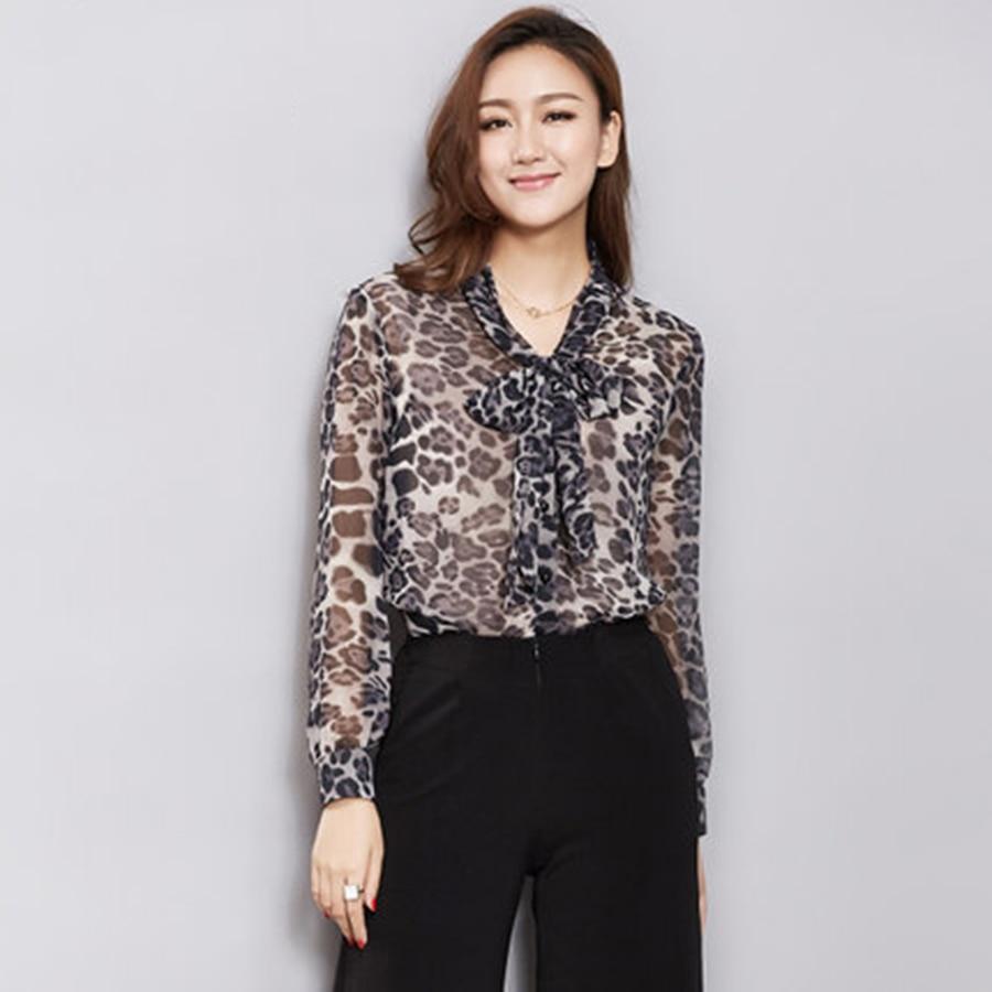 Online Get Cheap Leopard Blouse Bow -Aliexpress.com   Alibaba Group