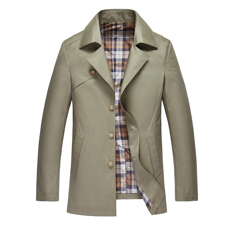 New High-grade Fashion Brand Mens Trench Coat Men Winter Business Casual Slim ens Overcoat Khaki Long Trench Coat Men British