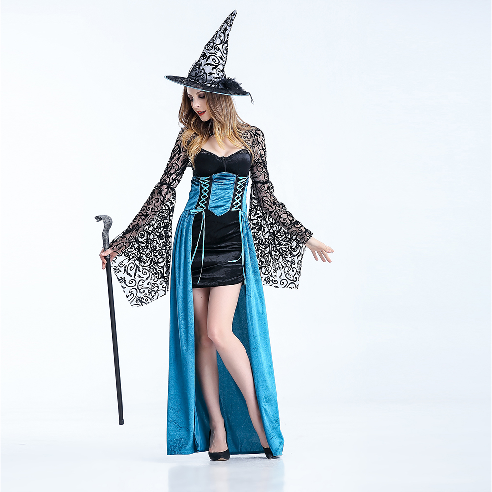 Women Witch Costume Deluxe Adult Magic Moment Costume Adult Wizard of Oz The Flying Sorceress halloween costumes For women