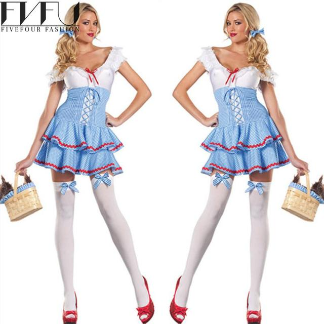 fashion cosplay halloween costumes women cute french maid costume beer clothing fancy dress night club