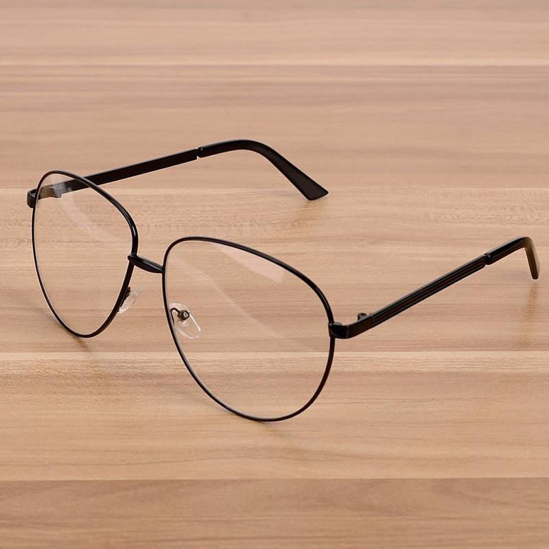 Ženska velika okvirna očala znamke NOSSA Ženska kovina prozorna - Oblačilni dodatki - Fotografija 2