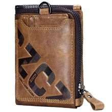 Gzcz Genuine Leather Men Wallet Fashion Coin Purse Card Holder