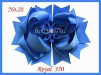 300pcs Free Shipping  Hand  BLESSING Good Girl Boutique 8 Inch Romantic party Hair Bows Clip 98 No. Customize Hair Accessories