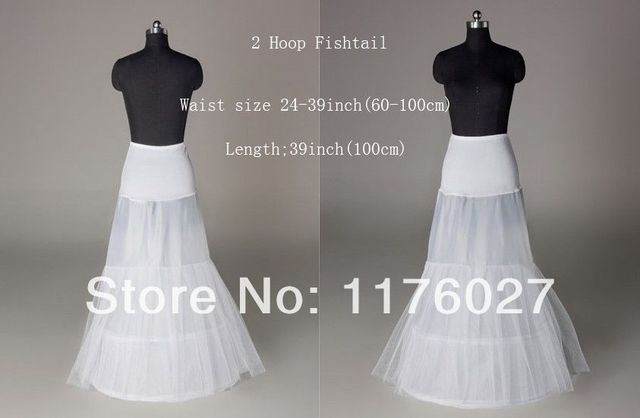 Free Shipping 2 Hoops Mermaid Wedding Bridal Petticoat Underskirt Crinoline Slip PT0017