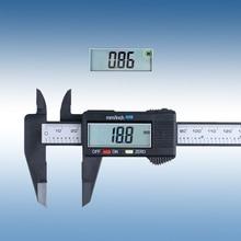 Big discount JO STO 150mm 6inch LCD Digital Electronic Carbon Fiber Vernier Caliper Gauge Micrometer