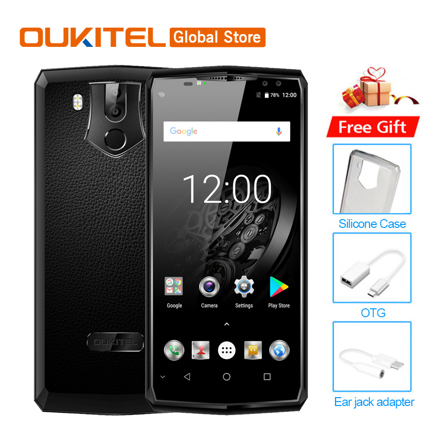 Original Oukitel K10 Face ID 6.0″ 18:9 Display Helio P23 6GB RAM 64GB ROM 11000mAh Quick Charge MT6763 Fingerprint NFC Cellphone