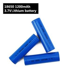 Image 5 - Torcia elettrica 18650 Batteria 3.7 V 1200 mah batteria Ricaricabile agli ioni di Li per Accumulatori e caricabatterie di riserva/e Bici 18650 Batterie pack (1 pc)