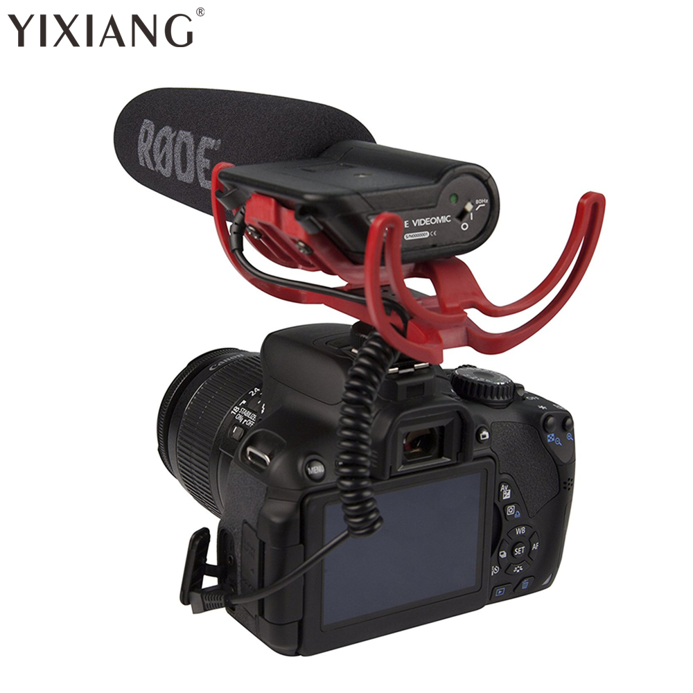 YIXIANG agent Rode VideoMic On Camera Mounted Shotgun Mic Microphone for Canon T3i 5D2 7D 60D