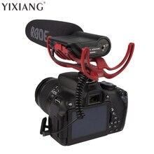 YIXIANG VideoMic Rode agente En Cámara Montado Escopeta de Micrófono Micrófono para Canon 5D2 5D3 7D 70D 60D T3i Nikon D800 D700 D600
