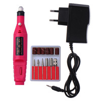 1set 6bits EU UK US Power Drill Electric Manicure Machine Nail Drill Pen Pedicure File Polish