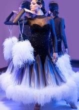 Concorso Sala Da Ballo vestito da ballo, tango salsa vestito da ballo samba, usura di ballo latino, rumba Jive balck Britannico tessuti Vestito Da Ballo