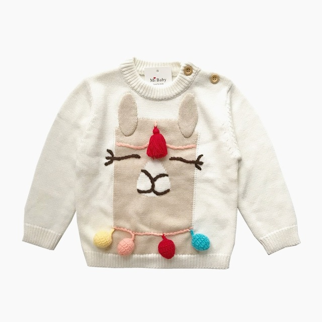 8a194f1d6 Baby knitted sweater kids sweater Alpaca pattern knitting pullover ...