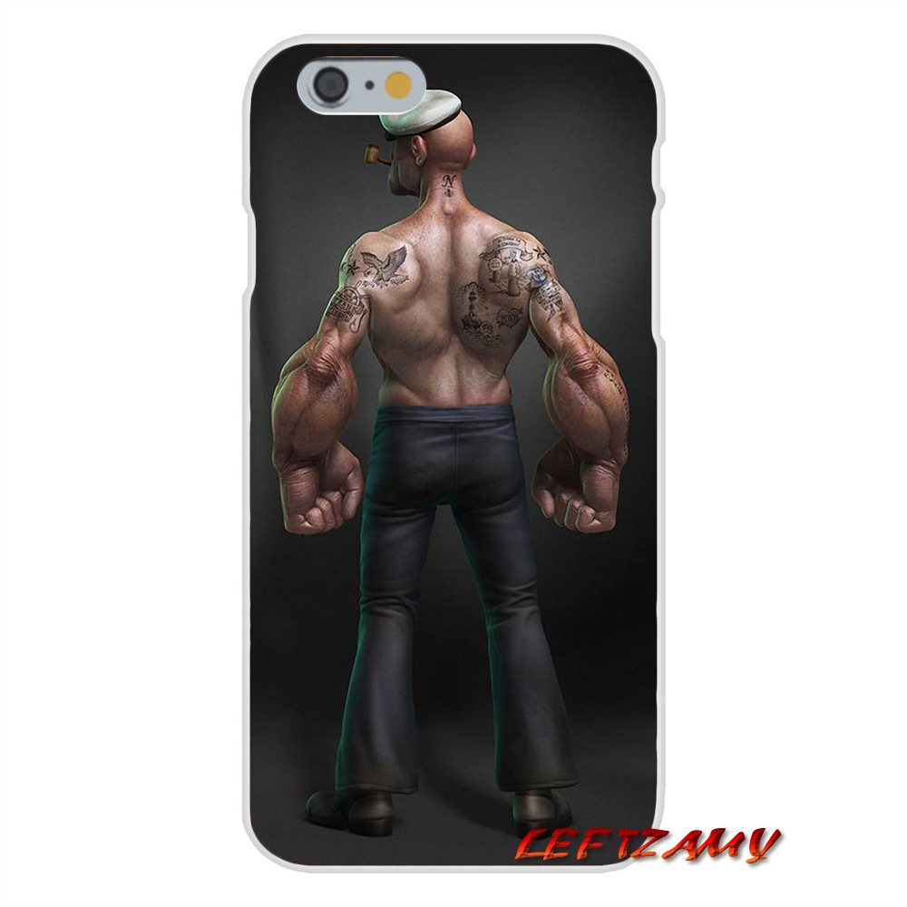 For iPhone X 4 4S 5 5S 5C SE 6 6S 7 8 Plus Anime popeye poker Soft Phone Case Silicone