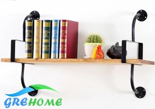 Imitation Vintage Iron Wall Shelf Solid Wood Creative Support Shelf wall Bracket Bookshelf Bracket Wall Mount