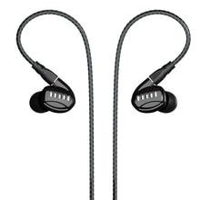 BGVP DM5 2BA + 2DD Hybride Pilotes Écouteurs HIFI Métal Écouteurs avec 2 Détachable Câbles