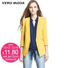 VERO MODA женские тонкий конфеты-цвет блейзер женский женские куртки рабочая одежда сплошной элегантный костюм однобортное  пальто бизнес 314308045