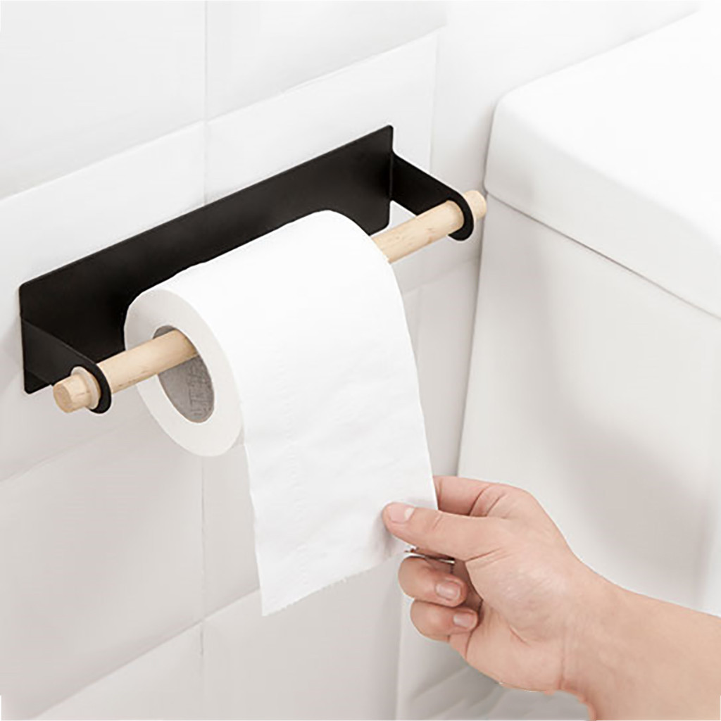 Trend Mark 2019 New Adhesive Paper Towel Holder Under Cabinet For Kitchen Bathroom #nn0128 To Ensure A Like-New Appearance Indefinably Home Improvement Paper Holders
