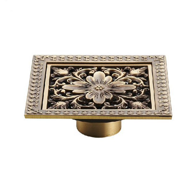 New-Arrival-Antique-Brass-12-12cm-Square-Floor-Drain-Shower-Drain-Bathroom-Furniture-HJ-8701T (1)