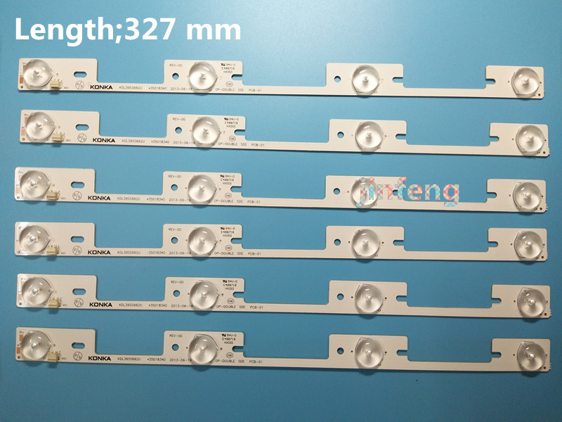 Smart New90 Pieces*4 Leds*6v Led Strips Working For Tv Kdl39ss662u 35018339 Kdl40ss662u 35019864 327mm Shrink-Proof Computer & Office
