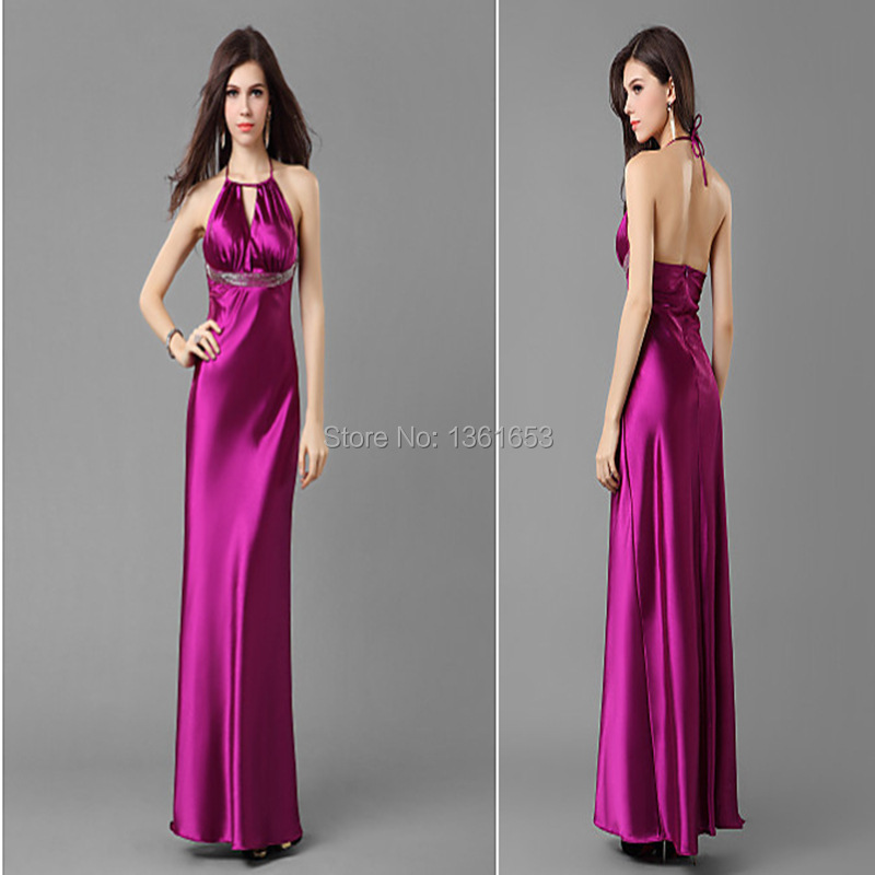 2015 new arrival dignified noble women purple party long dress star fashion vestido longo beatuful roupas femininas