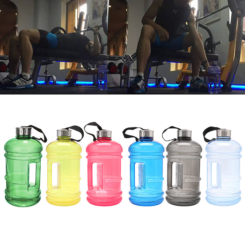 Large Sports Water Bottle Training Kettle Workout Drinking Fitness Big Gym Wide