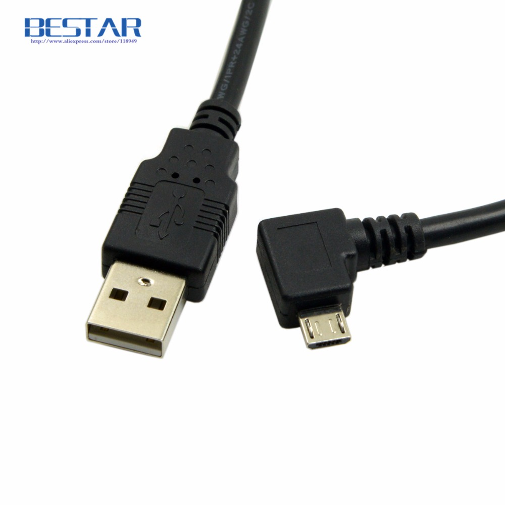 Right & Left angled 90 degree Micro USB 2.0 Male to USB 2.0 Male Data charging Cable 1m 1.5m 3m 5m MicroUSB angle Cable 1 pcs 90 degree right angle direction usb tpye a 5pin right angle micro b male to male adapter data sync charge cable cord