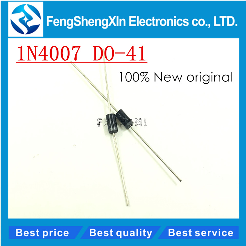 <font><b>1000pcs</b></font>/lot NEW <font><b>1N4007</b></font> 1A 1000V Rectifier diode IN4007 DO-41 image