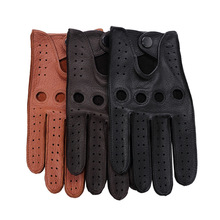 Luxury Deerskin Driving Gloves Men Soft Genuine Leather Top Quality All Season Outdoor Sports Fashion Motorcycle