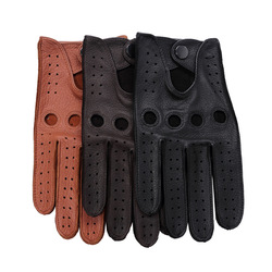 Luxury Deerskin Driving Gloves Men Soft Genuine Leather Top Quality All Season Outdoor Sports Gloves Fashion Motorcycle Gloves