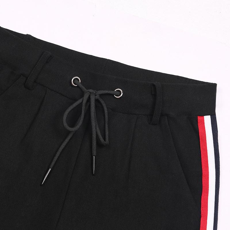 HTB13SqecjuhSKJjSspjq6Ai8VXap - FREE SHIPPING High Waist Knit Red Striped Sideseam Sweatpants JKP257