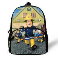 Newest Cartoon Hero Fireman Sam Print School Bags for Kindergarten Boys Kids Baby Bags Small Backpacks Satchel Schoolbag Mochila