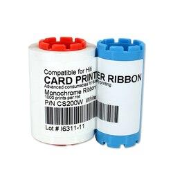 Drukarki wstążka kompatybilny CS200W 1000 pinty biały dowód osobisty  drukowanie wstążka do Hiti CS200 CS200e CS220 drukarki taśmy
