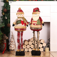 New Year Gifts Christmas Dolls Christmas Decorations for Home Santa Claus Snowman Large Doll Xmas Decor Ornaments Standing Toys