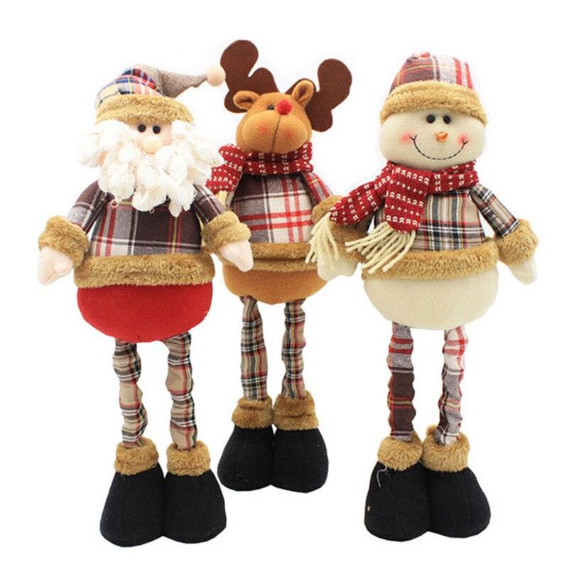 Amantes Bonecos de papai Noel Ano Novo Presentes de Aniversário para o Amigo Da Família Brinquedo de Pé Retrátil Natal Decorações De Natal para Casa