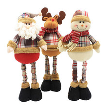 Santa Claus Dolls New Year Birthday Gifts for Friend Lovers Family Christmas Decorations Home Retractable Standing Toy Natal