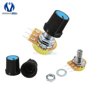 5PCS 3P 3PIN WH148 Rotary Potentiometer 1K 5K 10K 20K 50K 100K 500K Ohm Linear Taper 3 Pin Potentiometer For Arduino With Cap(China)