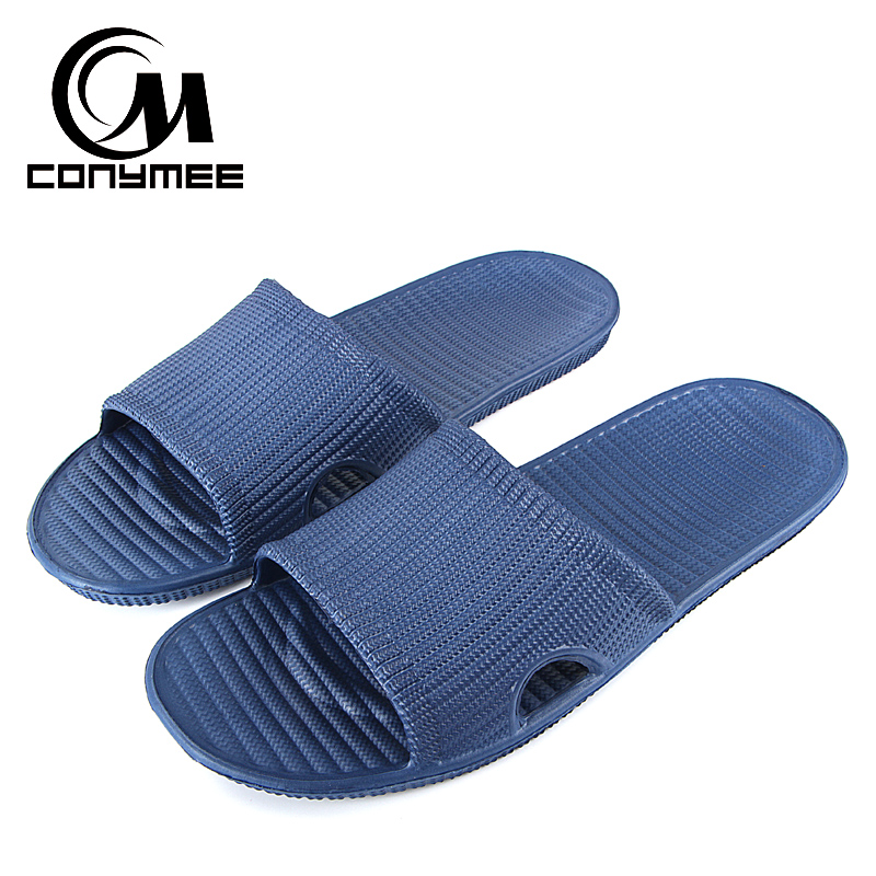CONYMEE Hot 2018 Summer Shoes Men Fashion Flip Flops Beach Sandals Man Indoor & Outdoor Flat Shoe Home Slippers Bath Sandalias