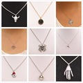 New 2016 Exo Bijoux Cute Love Christmas Spider Bull Clock Pendant Necklace for Women Wedding Jewelry Statement Gift Wholesale