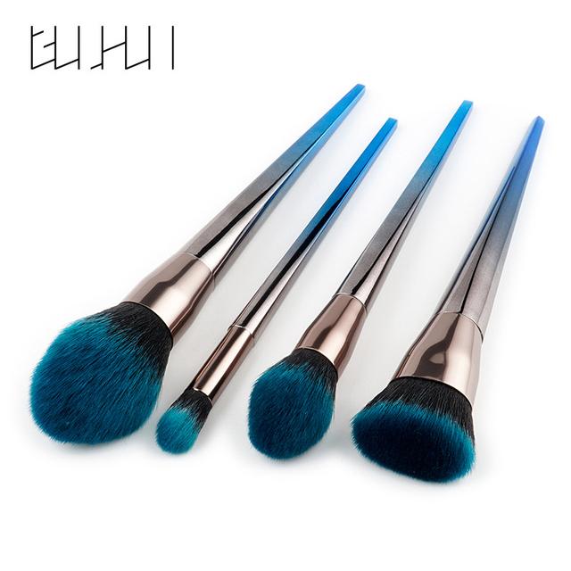 Diamond Makeup Brushes Set 4/7pcs/set Flame Brush Nose Foundation Powder Flat Head Brush Eyeshadow Eyebrow Make Up Tool Kits