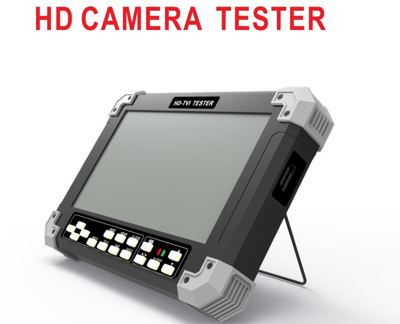 New 7 Inch HD CCTV Tester Monitor Analog AHD TVI Cameras Tester 720P 960P 1080P 3M 5M VGA HDMI Input 12V Output new aputure vs 5 7 inch 1920 1200 hd sdi hdmi pro camera field monitor with rgb waveform vectorscope histogram zebra false color