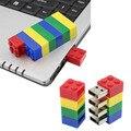 Bloques de Construcción de Dibujos Animados USB Flash Drive memoria usb stick usb pendrive cle USB 4/8/16/32/64 GB mini Tarjeta de Memoria Flash de regalo pendrive