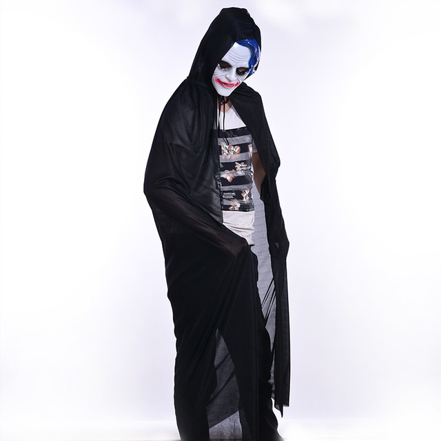 7fb321dd68 Wipalo Black Lined Hooded Vampire Cape Halloween Party Cloak Hood And Capes  Halloween Costumes For Women 2018 Poncho Gothic BTS