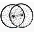 29er углеродное колесо для горного велосипеда передняя 100x15 мм Задняя 148x12 мм диски для горных велосипедов Колесная 27,4 мм бескамерная UD/3 k карбо...