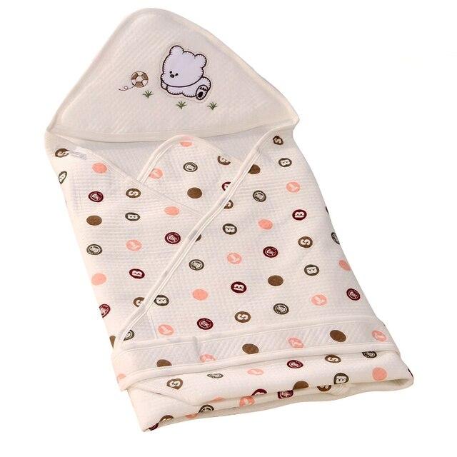 Осень Новорожденного Parisarc Пеленание Младенца Мягкий Теплый 100% Хлопка Малышей Тонкий Детское Одеяло Ребенка Обертывание Конверт-Спальный Мешок