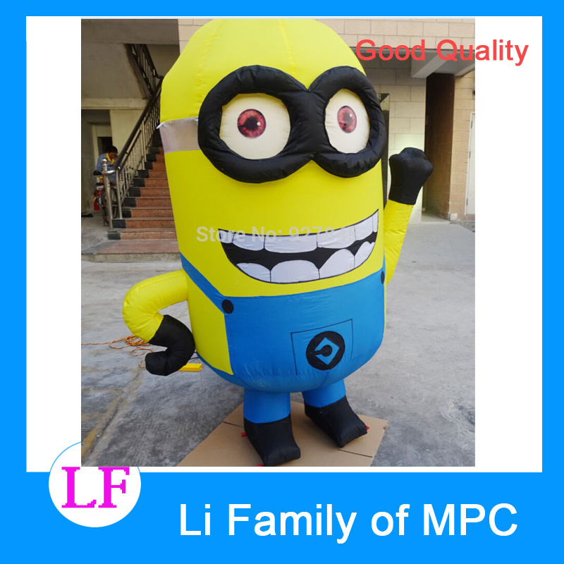 2.5 M Advertising Figure Despicable Me Advertising Inflatable Minion with blower despicable me unicorn minion stuffed