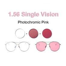 1,56 Photochrome Rosa oder Blau oder Lila Einzigen Vision Objektiv SPH Bereich 8.00 ~ + 6,00 Max CLY  6,00 Optische Linsen für Brillen
