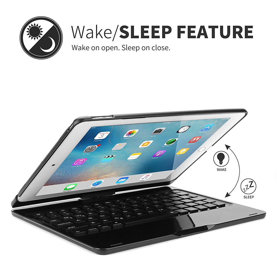 For iPad Pro 11 10.5 9.7 2018 2017 2016 Case Keyboard 360 Rotation 7 Color Backlit Bluetooth Keyboard Cover For iPad Pro Funda (4)