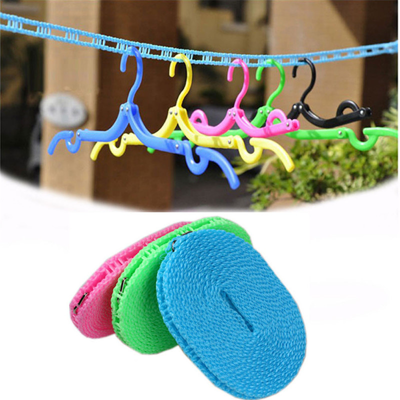 1X Portable Outdoor Travel Business Clothesline Washing Clothes Line Rope  (NO Retail Box. Packed Safely In Bubble Bag)